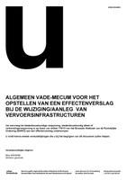 Vademecum voor de opmaak van een effectenrapport bij de wijziging/aanieg van vervoersinfrastructuren